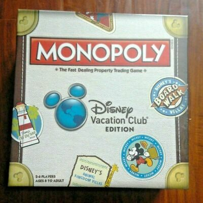 Brand New Sealed! DVC Monopoly Game Disney Vacation Club Mint!