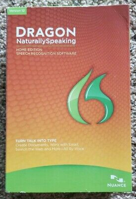 DRAGON Naturally Speaking Home Edition Version 12 - New