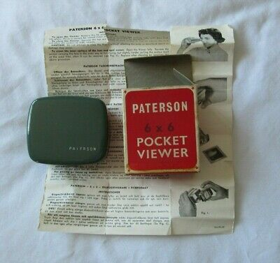 Paterson 6 by 6 Pocket Slide Viewer