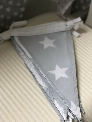 GLTC Nursery Bunting Grey And White Stars 🌟
