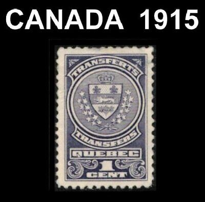 Canada Quebec 1915 Revenue Tax Stock Transferts #Qst9 Used Cv $6 Crease See Scan