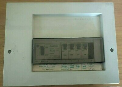 Crabtree SB6000 6 Way Consumer Unit With 4 MCB's.