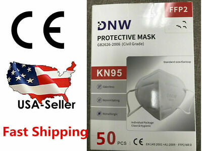 5/20/50 PCS DNW KN95 Face Mask Mouth Cover Disposable Masks Respirator K-N95
