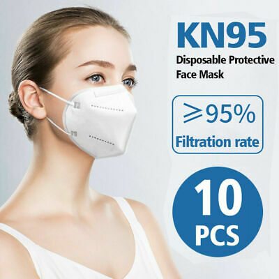 10 PCS KN95 Protective 5-Ply Face Mask >95% PM2.5 Disposable Respirator K-N95
