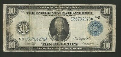 FR. 919A Ten Dollars Series of 1914 Federal Reserve Note Cleveland Ohio