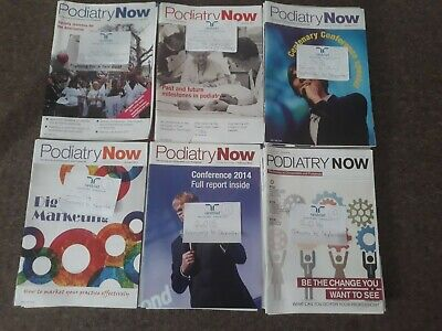 Bundle of 50+ Podiatry Now Magazines (Chiropody) student professional