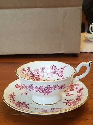 1 Footed Tea Cup & Saucer Coalport England Bone China
