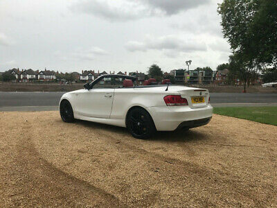 2011 Bmw 123D Auto M Sport Convertible In White, Full Red Leather Interior