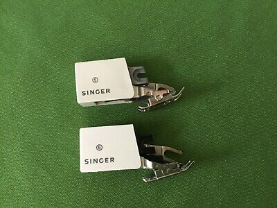 2 Vintage SINGER WALKING FOOT Even Feed Slant Shank Sewing Machine Attachment