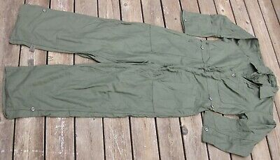 US Military Army Men's 100% Cotton Sateen Coveralls Green OG-107 Mens XL stencil