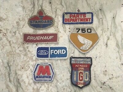 Vintage Worn Service Station Automotive Patch Lot (7)