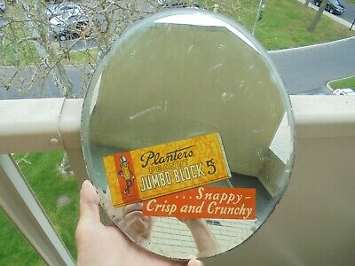 Antique Planters Peanut Advertising Promotional Item Beveled Mirror