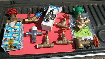 Job lot of Valves heating plumbing water gas brass bronze freepost