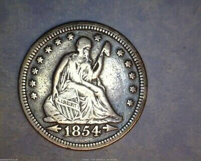 1854 With Arrows Seated Liberty Quarter
