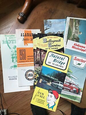 Alabama Map Lot of 10 Texaco Sinclair 1960s Birmingham Mobile Vintage