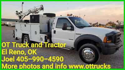 2007 Ford F-550 3500lb Crane 11ft Maintainer Service Bed PTO Air 6.0L Diesel