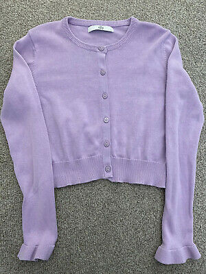 Marks And Spencer Girls Purple Cardigan. Age 7-8 Years. Immaculate Condition