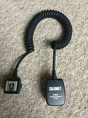 Calumet CF0027 off-camera TTL Sync Cord for Canon - Very Good Condition
