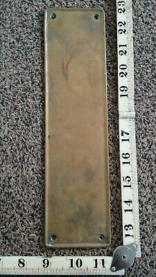 Reclaimed Solid Brass Door Finger Plate Vintage  Antique