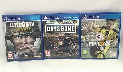 JOBLOT PLAYSTATION 4 PS4 GAMES DAYS GONE CALL OF DUTY WW2 FIFA 99p AUCTION