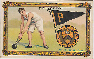 Princeton University vintage college Tobacco Murad Card T6 1911
