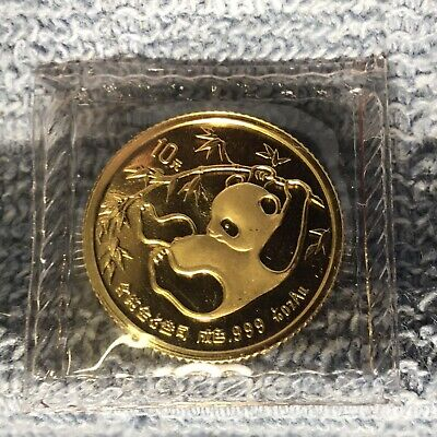 1985 1/10 Oz 10 Yuan Gold Panda In Original Mint Package