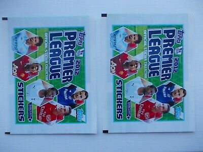 football stickers 2 unopened packets of Topps Premier League 2012