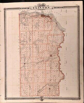 Iowa 1875, Clinton Co. reverse Cities of Lyons and Clinton