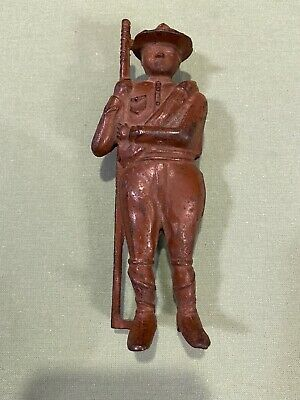 1910's Boy Scout/doughboy Still Cast Iron Bank By A C Williams