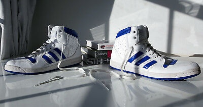 Adidas Hi-Top Leather Retro '80s Trainers - Lads Mens UK Size 11.5 - Great!