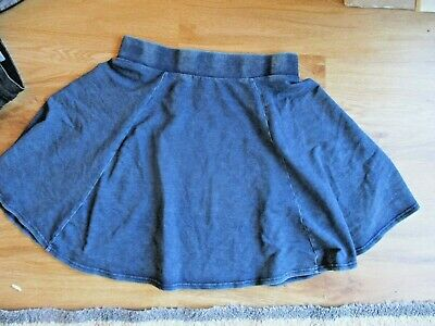 Girls New Look Generation Blue Denim Effect Blue Short Flare Skirt 14-15 Years