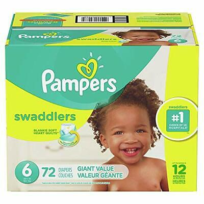 Diapers Size 6, 72 Count Pampers Swaddlers Disposable Baby Diapers, Giant Pack🔱