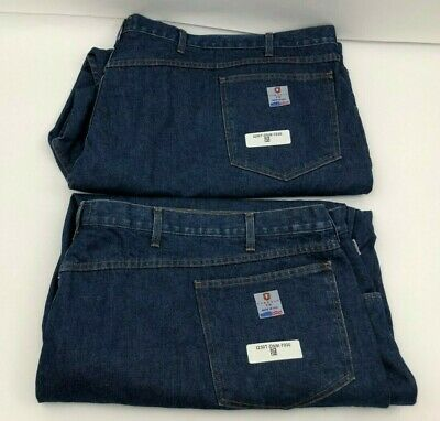 Lot of 2 New Tyndale 18 CAL FR Flame Fire Resistant Pants Jeans Blue Mens 70x30