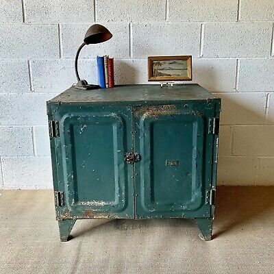 Vintage Industrial Engineers Metal Cabinet - 1950's