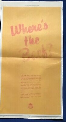 Iconic New York Times FULL PAGE COLOR AD Where's The Beef WENDY'S 2020 Beef Fade