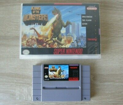 King of the Monsters (NTSC) with box - SNES Super Nintendo