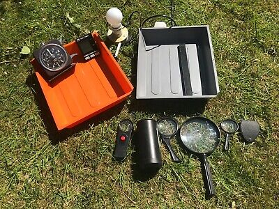 JOB LOT of Darkroom Developing Equipment - Trays, Timers, Magnifying Glasses etc