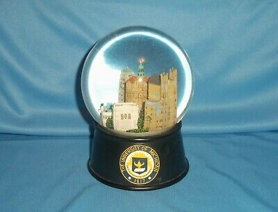 University of Michigan Campus View Snow Globe Plays Michigan Fight Song