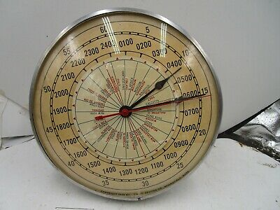 Timing Devices Company 1951 World  Wall Clock Model TD-2400 Copr 1949 Works
