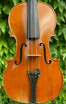 Old French Violin D. NICOLAS AINE (Mirecourt) 1824 signed & branded