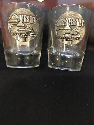 Hershey Kisses Chocolate Town USA Shot Glass set