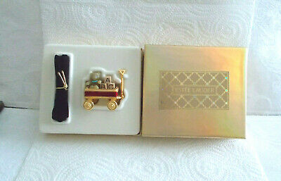 Estee Lauder Pleasures Solid Perfume Toy Wagon - In Original Box