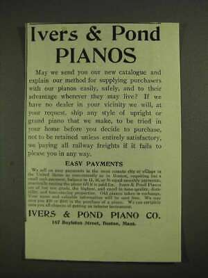 1903 Ivers & Pond Pianos Ad