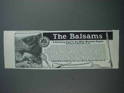 1912 The Balsams Hotel Ad