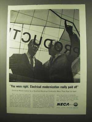 1964 National Electrical Contractors Association Ad - Paid Off
