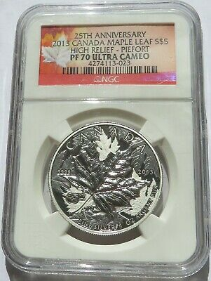 2013 Canada S$5 Maple Leaf High Relief Piefort NGC PF 70 UCAM Silver Coin (2532R