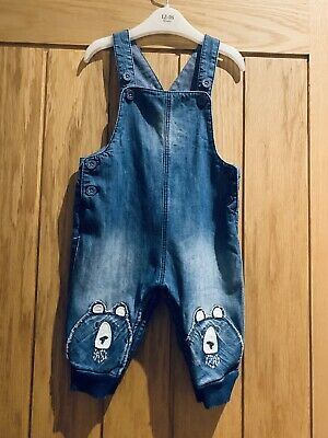 Boys Next Baby Denim Dungarees Size 3-6 Months.