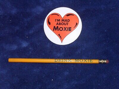 Original Mad About Moxie Button & Drink Moxie Pencil - No Reserve!!!