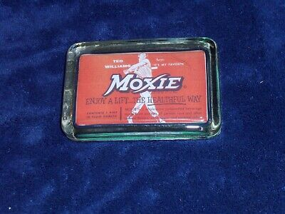Moxie Soda/Ted Williams Glass Paperweight!!! - No Reserve!!!