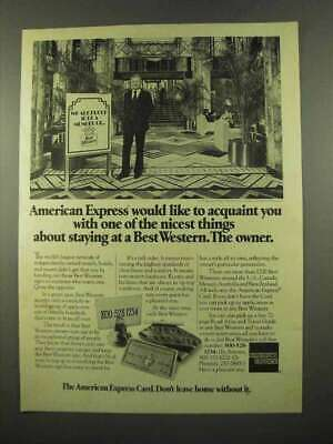 1975 American Express Ad - Staying at Best Western